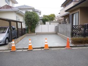 庭がゆったりした2台分の駐車場になりました!
