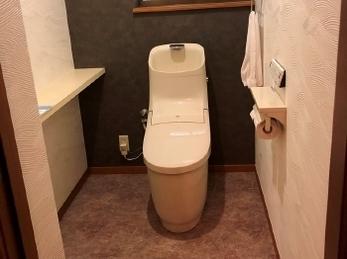 最新トイレで癒しの空間に♪