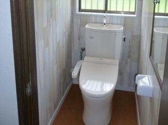 お掃除ラクラク♪ 清潔トイレ♪