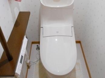 お手入れがしやすいトイレに♪