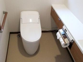 ゆったりと、使い易いトイレになりました。