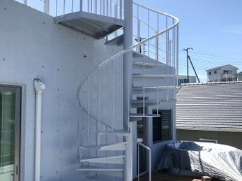 安全性の高い屋外階段