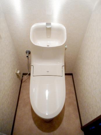 一体型トイレで見た目をすっきりと