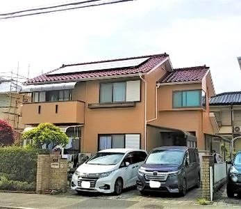 屋根・外壁等のカラーを変えて洋風の外観に